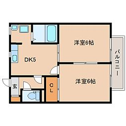 静岡県静岡市葵区浅間町の賃貸アパートの間取り