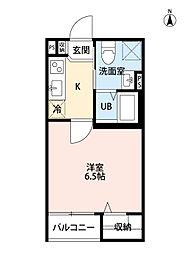 兵庫県尼崎市大庄西町2丁目の賃貸アパートの間取り