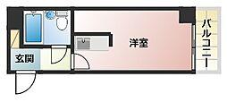 ライオンズマンション上六第2[4階]の間取り