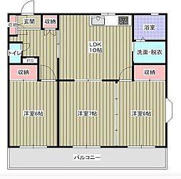 ロイヤルプラザ高田[2階]の間取り