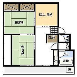 小村アパート[405号室]の間取り