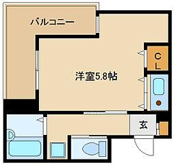 ロングアイランド尼崎[1階]の間取り