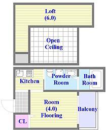 兵庫県神戸市垂水区山手5丁目の賃貸アパートの間取り