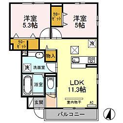 (仮)D‐room桜区南元宿2丁目 I[105号室]の間取り