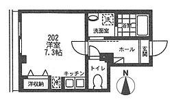 ソレイユ代沢[202号室号室]の間取り