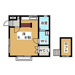 カーサカルテットD[2階]の間取り