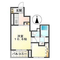 コートハウス安塚II[1階]の間取り