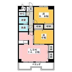 プレスティージュタカヨコ[3階]の間取り