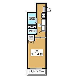 ミーツハウス 宝ヶ池[2階]の間取り