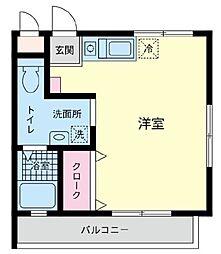神奈川県藤沢市湘南台5丁目の賃貸アパートの間取り