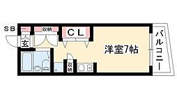 愛知県名古屋市昭和区鶴羽町1の賃貸マンションの間取り