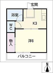 第3ハイツタマキ[1階]の間取り