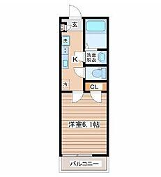 サニープレイス仙台東口 3階1Kの間取り