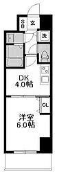 ノーブルコート堺筋本町[10階]の間取り
