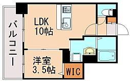 サーレ薬院 3階1LDKの間取り