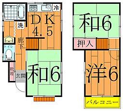 [一戸建] 千葉県松戸市六実1丁目 の賃貸【/】の間取り