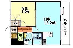 広島県広島市西区大宮1丁目の賃貸マンションの間取り