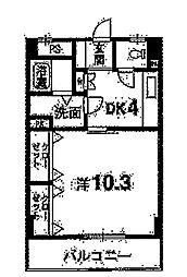 マ・メゾン吉野[303号室]の間取り