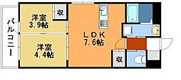 AKAMA77'sマンション[8階]の間取り