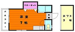 門倉ハイツIII[2階]の間取り