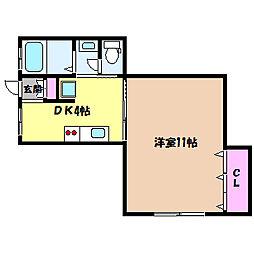 兵庫県神戸市灘区篠原北町2丁目の賃貸マンションの間取り