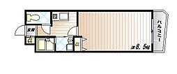 神戸市西神・山手線 伊川谷駅 徒歩4分の賃貸マンション 4階1Kの間取り
