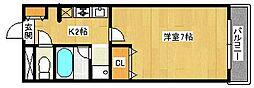ガレッジハイツ百舌鳥[4階]の間取り
