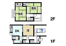 [一戸建] 奈良県奈良市恋の窪1丁目 の賃貸【奈良県 / 奈良市】の間取り