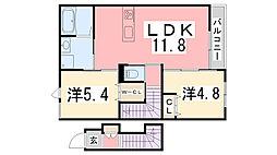 仮)佐土賃貸アパート[201号室]の間取り