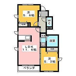 MAISON 紫陽花[1階]の間取り