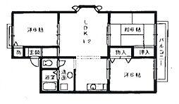 アットハウス松谷II[1階]の間取り