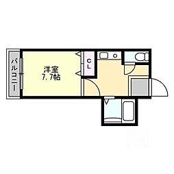 シャルマン大和田 1[4階]の間取り