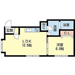 MA MAISON 4階1LDKの間取り