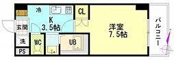 広島県広島市安佐南区東原1丁目の賃貸マンションの間取り
