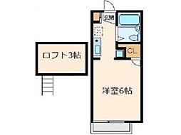 アネックスMI[1階]の間取り