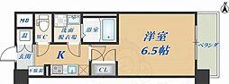 CASSIA高井田NorthCourt 9階1Kの間取り