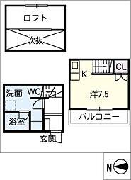 [タウンハウス] 愛知県名古屋市南区豊1丁目 の賃貸【愛知県 / 名古屋市南区】の間取り