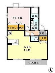ソレイユ新吉田東[2階]の間取り