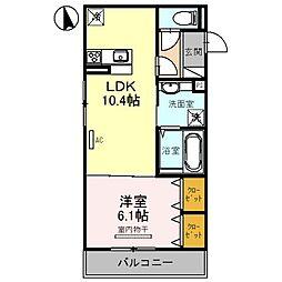 仮)D-room西難波町[3階]の間取り