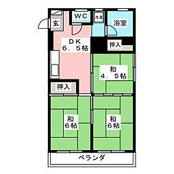 コーポキモト[2階]の間取り