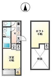 ライカート新栄[2階]の間取り