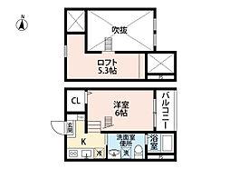 愛知県名古屋市南区源兵衛町2丁目の賃貸アパートの間取り