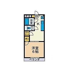 マ・シャンブル[2階]の間取り