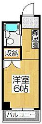 なごみハイツ(旧バーレン45)[607号室]の間取り