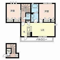 シャーメゾンAEA[2階]の間取り
