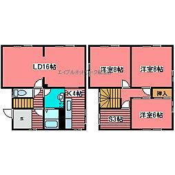 [一戸建] 北海道札幌市豊平区西岡二条4丁目 の賃貸【/】の間取り