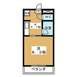 ウランタワー[4階]の間取り