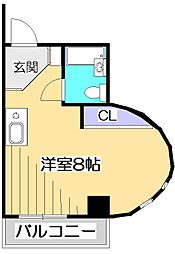 ハウスアメニティ99[7階]の間取り
