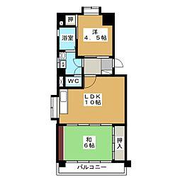 パールマンション喜多山[1階]の間取り