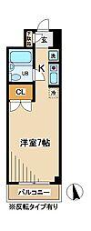東京都国立市富士見台2丁目の賃貸マンションの間取り
